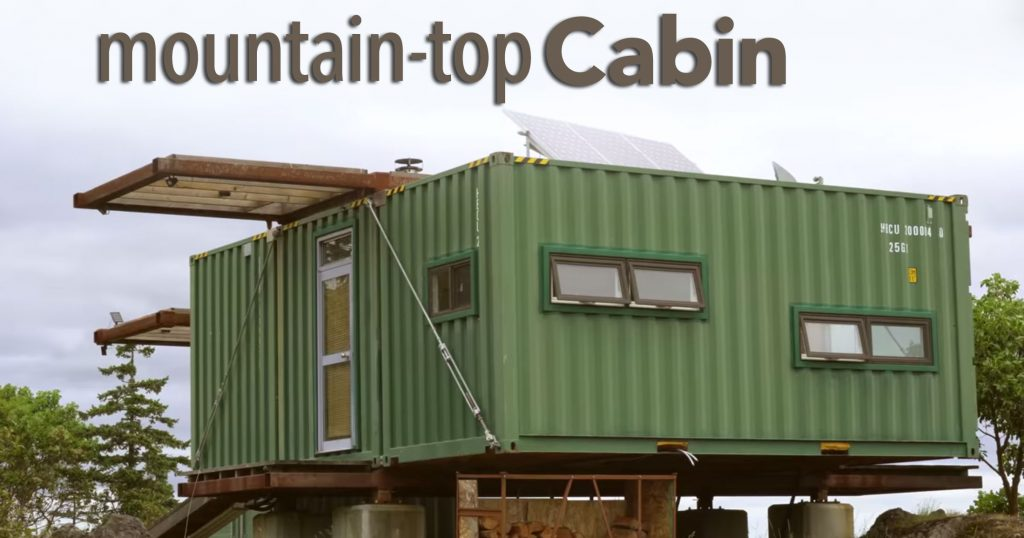 Mountain-Top Shipping Container Cabin